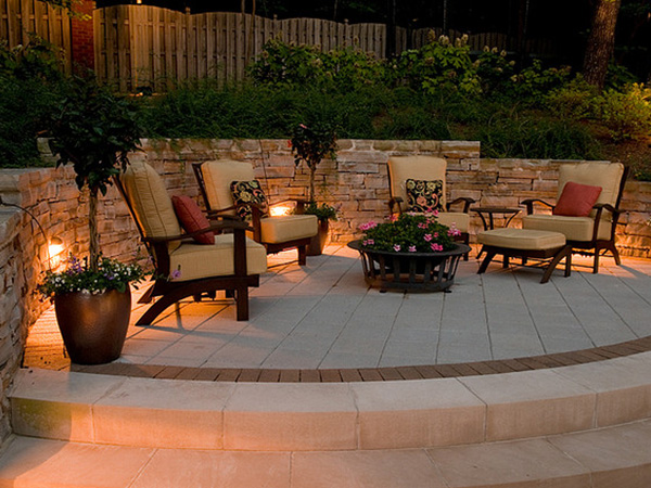 Stylish European Patio Lighting