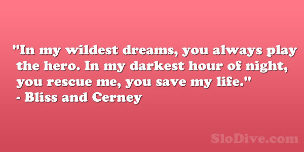 Bliss and Cerney Quote