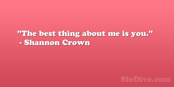 Shannon Crown Quote