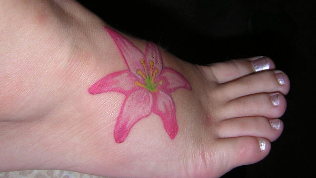 Image result for pink lily tattoo