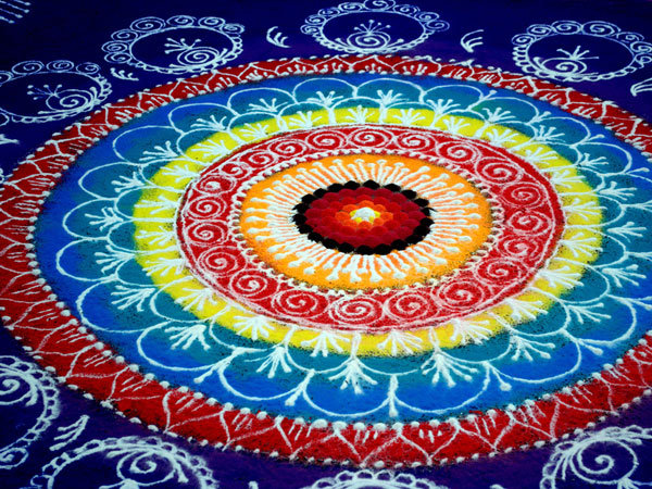 blue 32 Encouraging Rangoli Designs