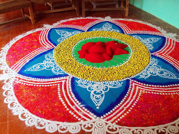 handmade 32 Encouraging Rangoli Designs