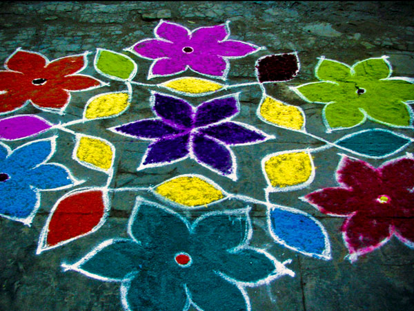 simply best 32 Encouraging Rangoli Designs