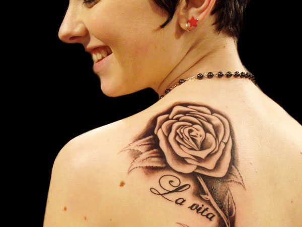 backtat 23 Uplifting Rose Tattoos For Women