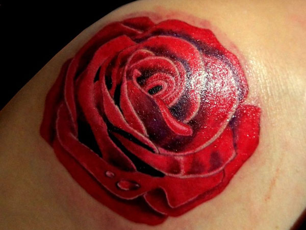 darkred 23 Uplifting Rose Tattoos For Women
