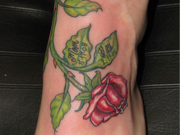 rose leaf 23 Uplifting Rose Tattoos For Women