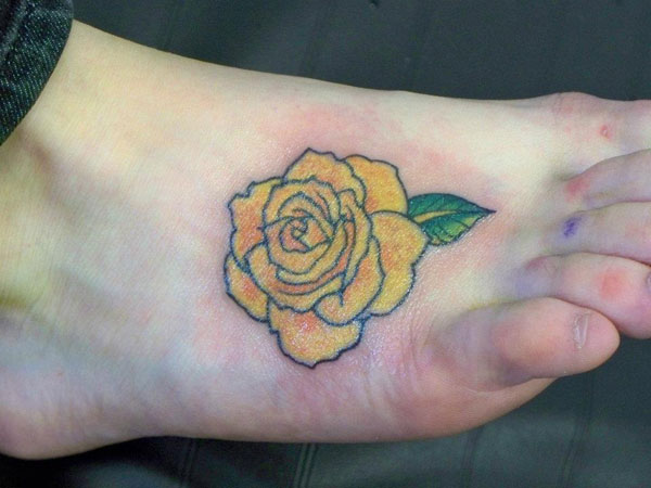 yellowrose 23 Uplifting Rose Tattoos For Women