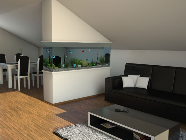 aquarium 25 Rustic Living Room Ideas That Are Overpoweringly Attractive