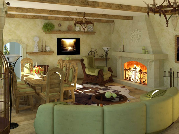 green color 25 Rustic Living Room Ideas That Are Overpoweringly Attractive