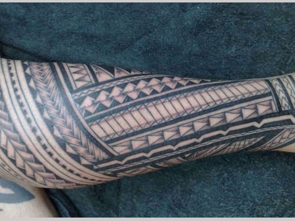 Artistic Leg Tattoo