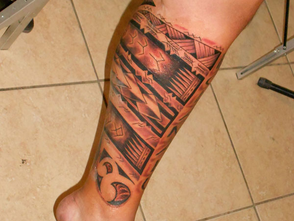 Samoan Sleeve Leg Tattoo