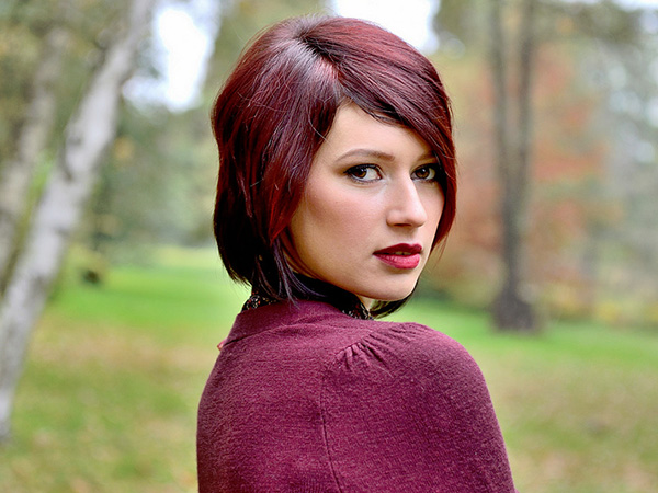 Colored Short Hairstyle