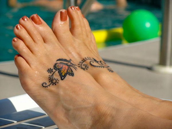 26 Butterfly Tattoos On Foot To Make You Feel The Touch Of The