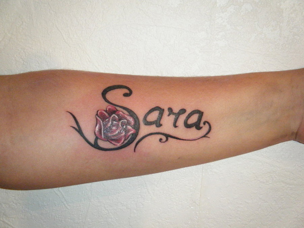 Her Name With A Rose