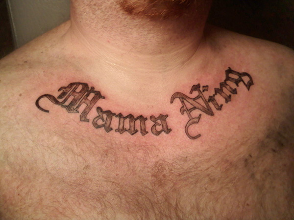 basic old english lettering 25 Tattoo Lettering Styles That Will Take Your Breath Away