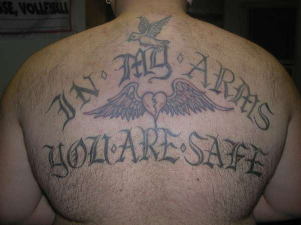 Old Text Lettering Tattoo
