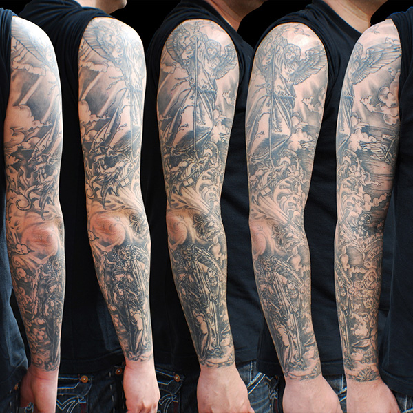 Dark Full Sleeve Tattoo