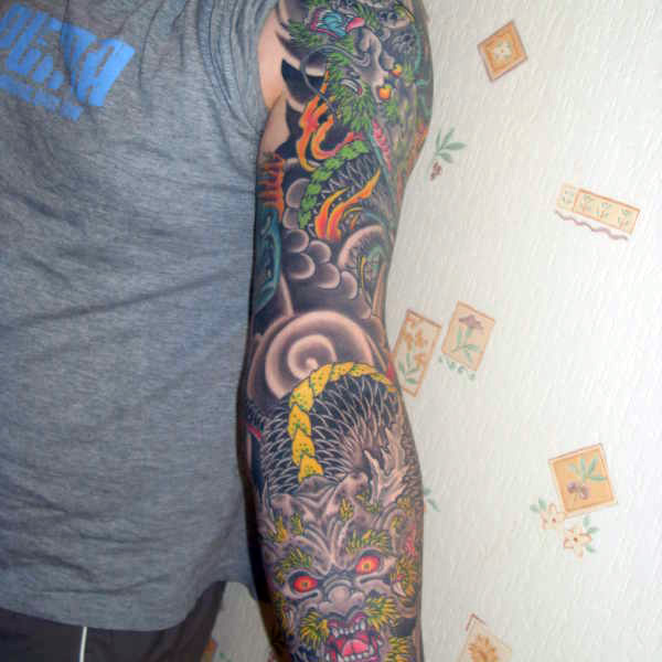 Dragon On Sleeve