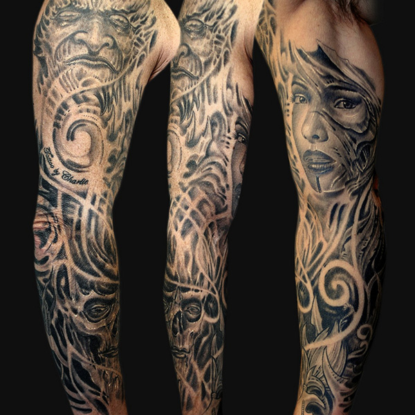 Portrait Sleeve Tattoo