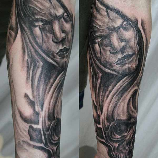 Creepy Sleeve Tattoo