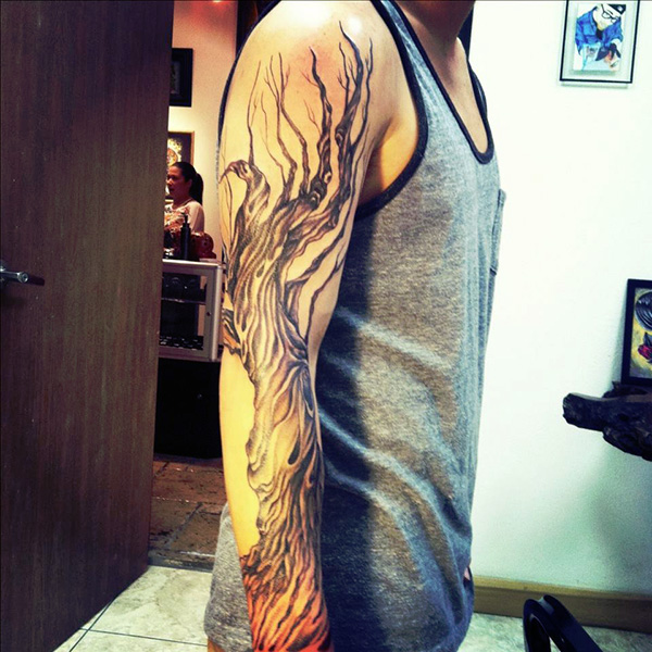 Tree Sleeve Tattoo