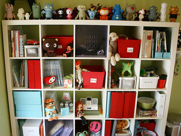 Toys In Square Cupboard