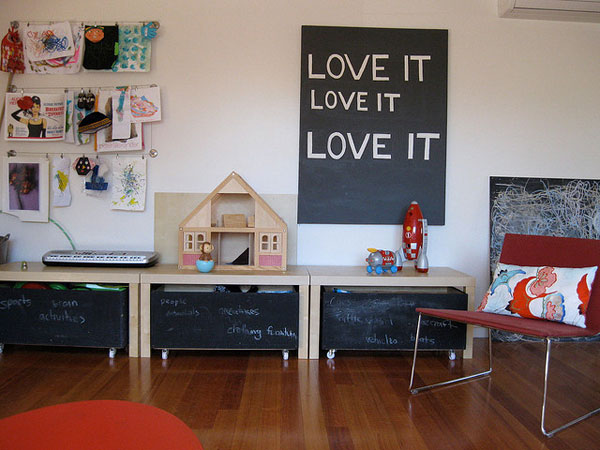 Kid's Room With Blackboards