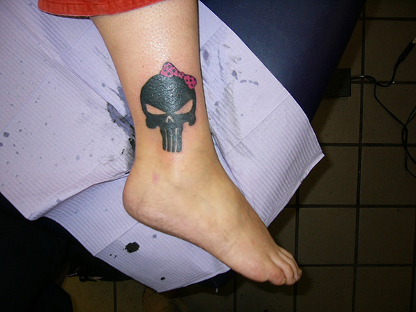 ankle tattoo 32 Wickedly Bad Ass Tattoos