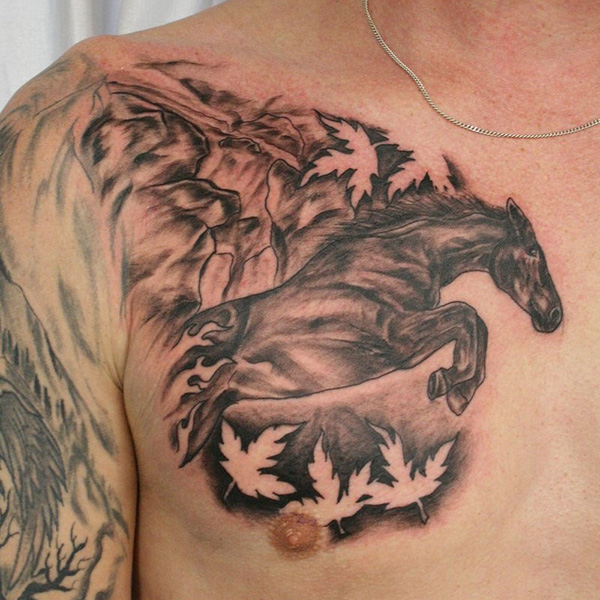 horse tattoo 32 Wickedly Bad Ass Tattoos