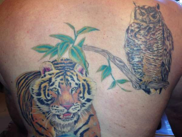 tiger owl 32 Wickedly Bad Ass Tattoos