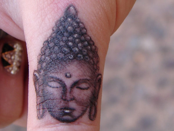 finger 32 Spiritual Buddha Tattoo Designs