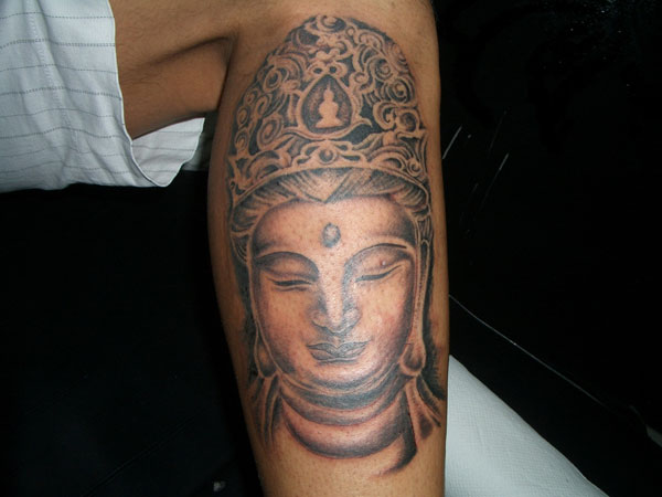 leg tattoo 32 Spiritual Buddha Tattoo Designs