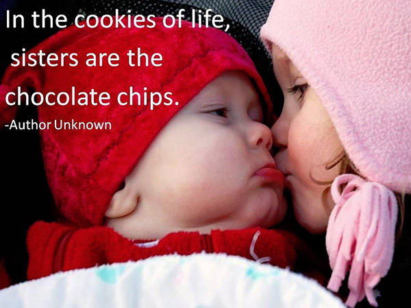 cookies of life 25 Cute Sister Quotes You Will Definitely Love