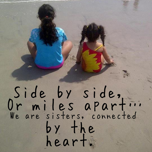 side by side 25 Cute Sister Quotes You Will Definitely Love