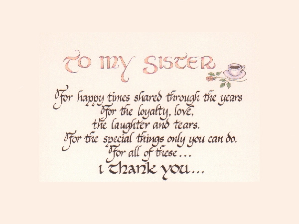 An Ode To Sister. This Saying Is A Perfect Depiction About The Love ...
