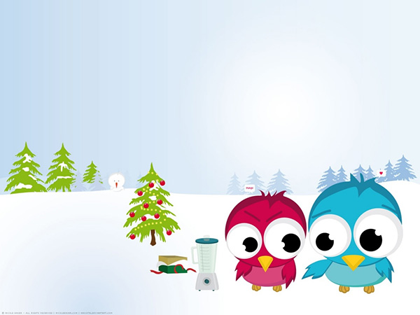 funny christmas birds 34 Cute Twitter Backgrounds You Can Use For Your Profile