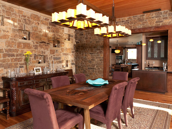 Enchanting stone wall in dining room contemporary best inspiration scintillating stone wall dining room ideas best inspiration home sxxofo