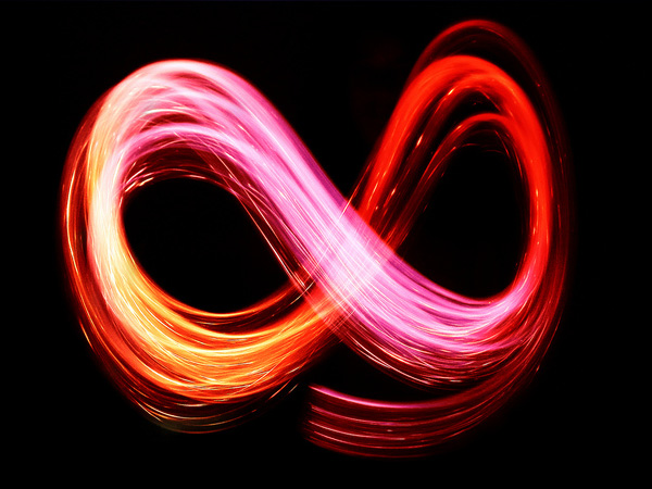 infinite light trails 28 Memorable Double Infinity Symbol Designs
