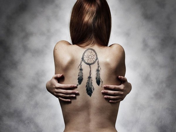 back tattoo 27 Dreamcatcher Tattoo Designs That Cant Be Missed