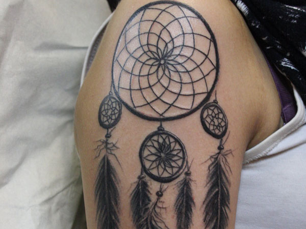 shoulder 27 Dreamcatcher Tattoo Designs That Cant Be Missed