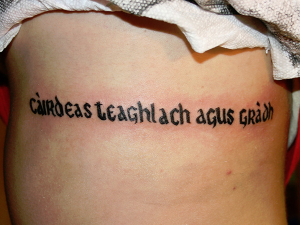 family friends love 27 Incredible Gaelic Tattoos