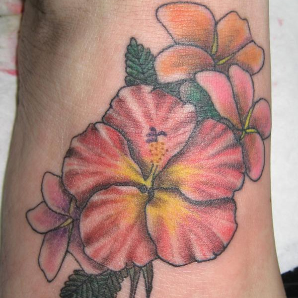 27 Colorful Hibiscus Flower Tattoos Slodive