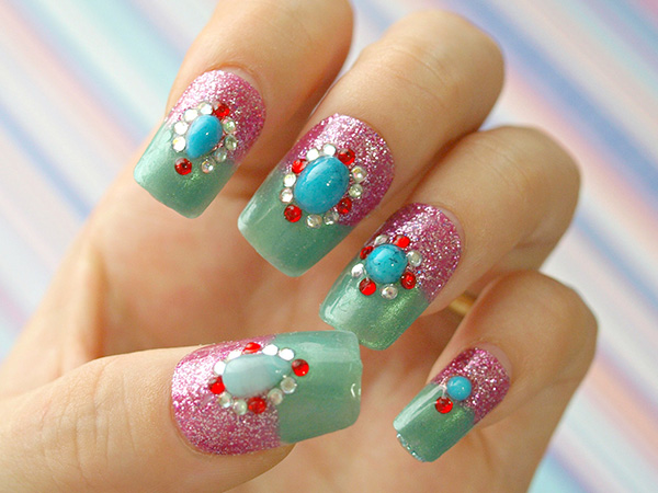 lovely nail art 26 Impossible Japanese Nail Art Designs