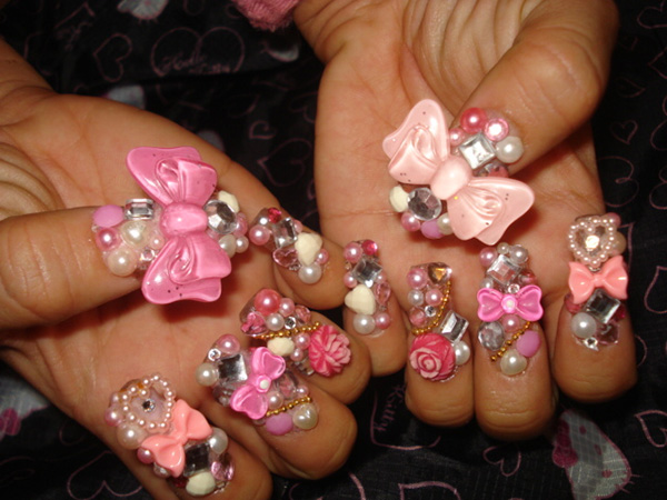 princess nails 26 Impossible Japanese Nail Art Designs