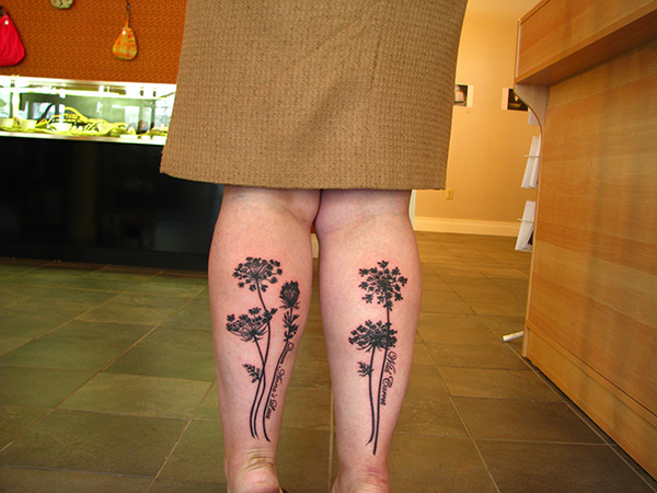 Lace Flowers Tattoo