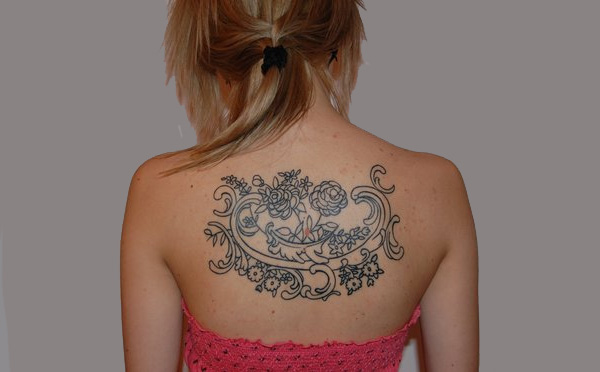 Lace Curvy Tattoo