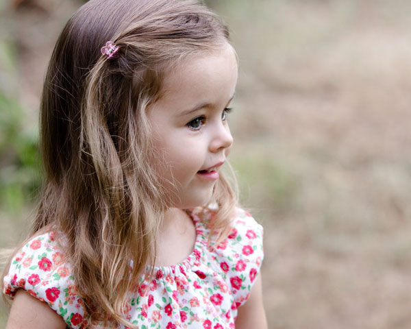 Elegant Little Girl Hairstyle
