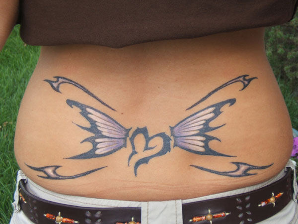 Heart Butterfly Tattoo