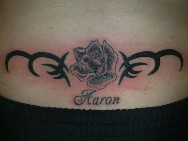 Rose With Name Tattoo