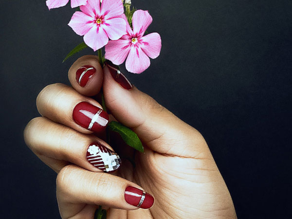 Elegant Love Nail Design